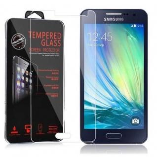 Cadorabo Panzer Folie für Samsung Galaxy A3 2015 - Schutzfolie in KRISTALL KLAR - Gehärtetes (Tempered) Display-Schutzglas in 9H Härte mit 3D Touch Kompatibilität