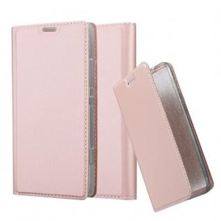 Cadorabo Hülle für Sony Xperia SP in CLASSY ROSÉ GOLD - Handyhülle mit Magnetverschluss, Standfunktion und Kartenfach - Case Cover Schutzhülle Etui Tasche Book Klapp Style