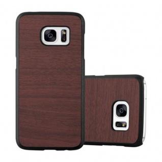 Cadorabo Hülle für Samsung Galaxy S7 in WOODY KAFFEE ? Hardcase Handyhülle aus Plastik gegen Kratzer und Stöße ? Schutzhülle Bumper Ultra Slim Back Case Hard Cover
