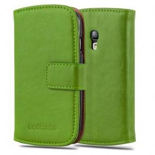 Cadorabo Hülle für Samsung Galaxy S3 MINI in GRAS GRÜN - Handyhülle mit Magnetverschluss, Standfunktion und Kartenfach - Case Cover Schutzhülle Etui Tasche Book Klapp Style