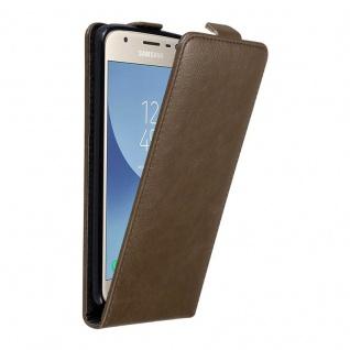 Cadorabo Hülle für Samsung Galaxy J3 2017 in KAFFEE BRAUN Handyhülle im Flip Design mit unsichtbarem Magnetverschluss Case Cover Schutzhülle Etui Tasche Book Klapp Style