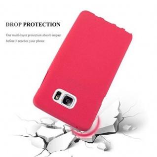 Cadorabo Hülle für Samsung Galaxy NOTE 5 in FROST ROT - Handyhülle aus flexiblem TPU Silikon - Silikonhülle Schutzhülle Ultra Slim Soft Back Cover Case Bumper - Vorschau 4