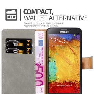 Cadorabo Hülle für Samsung Galaxy NOTE 3 NEO in CAPPUCCINO BRAUN ? Handyhülle mit Magnetverschluss, Standfunktion und Kartenfach ? Case Cover Schutzhülle Etui Tasche Book Klapp Style - Vorschau 3
