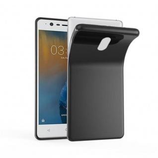 Cadorabo Hülle für Nokia 3 in SCHWARZ - Handyhülle aus flexiblem TPU Silikon - Silikonhülle Schutzhülle Ultra Slim Soft Back Cover Case Bumper