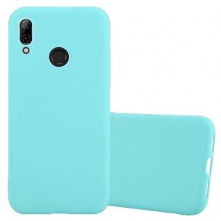 Cadorabo Hülle für Huawei P SMART 2019 in CANDY BLAU - Handyhülle aus flexiblem TPU Silikon - Silikonhülle Schutzhülle Ultra Slim Soft Back Cover Case Bumper