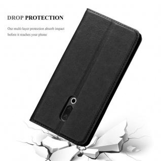 Cadorabo Hülle für MEIZU 15 in NACHT SCHWARZ - Handyhülle mit Magnetverschluss, Standfunktion und Kartenfach - Case Cover Schutzhülle Etui Tasche Book Klapp Style - Vorschau 5