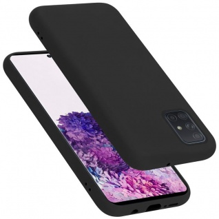 Cadorabo Hülle für Samsung Galaxy A71 in LIQUID SCHWARZ Handyhülle aus flexiblem TPU Silikon Silikonhülle Schutzhülle Ultra Slim Soft Back Cover Case Bumper