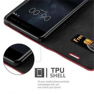 Cadorabo Hülle für Nokia 6 2017 in APFEL ROT Handyhülle mit Magnetverschluss, Standfunktion und Kartenfach Case Cover Schutzhülle Etui Tasche Book Klapp Style - Vorschau 3