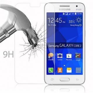 Cadorabo Panzer Folie für Samsung Galaxy CORE 2 - Schutzfolie in KRISTALL KLAR - Gehärtetes (Tempered) Display-Schutzglas in 9H Härte mit 3D Touch Kompatibilität - Vorschau 3