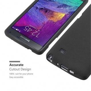 Cadorabo Hülle für Samsung Galaxy NOTE 4 in FROST SCHWARZ - Handyhülle aus flexiblem TPU Silikon - Silikonhülle Schutzhülle Ultra Slim Soft Back Cover Case Bumper - Vorschau 2