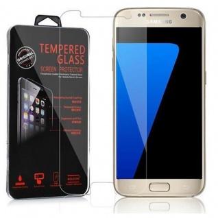 Cadorabo Panzer Folie für Samsung Galaxy S7 - Schutzfolie in KRISTALL KLAR - Gehärtetes (Tempered) Display-Schutzglas in 9H Härte mit 3D Touch Kompatibilität