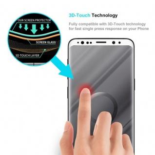Cadorabo Vollbild Panzer Folie für Samsung Galaxy S9 - Schutzfolie in TRANSPARENT mit WEISS - Gehärtetes (Tempered) Display-Schutzglas in 9H Härte mit 3D Touch Kompatibilität - Vorschau 5
