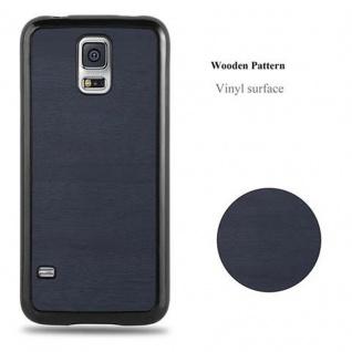 Cadorabo Hülle für Samsung Galaxy S5 / S5 NEO in WOODEN BLAU ? Handyhülle aus flexiblem TPU Silikon ? Silikonhülle Schutzhülle Ultra Slim Soft Back Cover Case Bumper - Vorschau 5