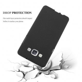 Cadorabo Hülle für Samsung Galaxy A3 2015 in FROST SCHWARZ - Handyhülle aus flexiblem TPU Silikon - Silikonhülle Schutzhülle Ultra Slim Soft Back Cover Case Bumper - Vorschau 4