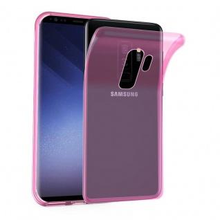 Cadorabo Hülle für Samsung Galaxy S9 PLUS in TRANSPARENT PINK - Handyhülle aus flexiblem TPU Silikon - Silikonhülle Schutzhülle Ultra Slim Soft Back Cover Case Bumper