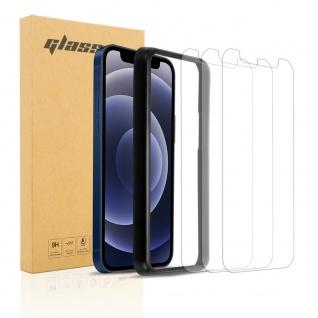"""Cadorabo 3X Panzerglasfolie für Apple iPhone 12 (6, 1"""" Zoll) - Schutzfolie in TRANSPARENT - 3er Pack Gehärtetes (Tempered) Display-Schutzglas mit Installationshilfe"""