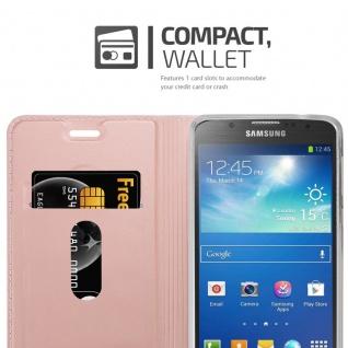 Cadorabo Hülle für Samsung Galaxy S4 Active in CLASSY ROSÉ GOLD - Handyhülle mit Magnetverschluss, Standfunktion und Kartenfach - Case Cover Schutzhülle Etui Tasche Book Klapp Style - Vorschau 3