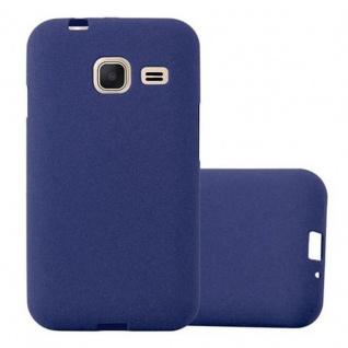 Cadorabo Hülle für Samsung Galaxy J1 MINI 2016 in FROST DUNKEL BLAU - Handyhülle aus flexiblem TPU Silikon - Silikonhülle Schutzhülle Ultra Slim Soft Back Cover Case Bumper