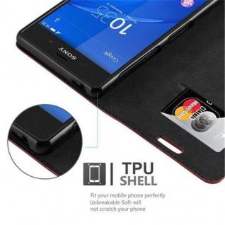 Cadorabo Hülle für Sony Xperia Z3 in APFEL ROT Handyhülle mit Magnetverschluss, Standfunktion und Kartenfach Case Cover Schutzhülle Etui Tasche Book Klapp Style - Vorschau 3