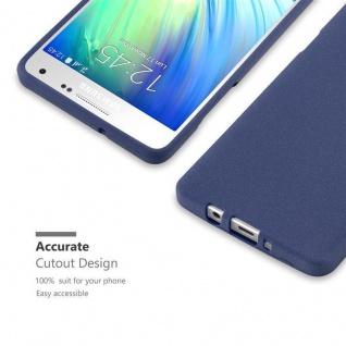 Cadorabo Hülle für Samsung Galaxy A3 2015 in FROST DUNKEL BLAU - Handyhülle aus flexiblem TPU Silikon - Silikonhülle Schutzhülle Ultra Slim Soft Back Cover Case Bumper - Vorschau 2