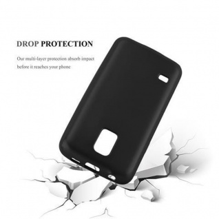 Cadorabo Hülle für Samsung Galaxy S5 MINI / S5 MINI DUOS in METALLIC SCHWARZ - Handyhülle aus flexiblem TPU Silikon - Silikonhülle Schutzhülle Ultra Slim Soft Back Cover Case Bumper - Vorschau 3