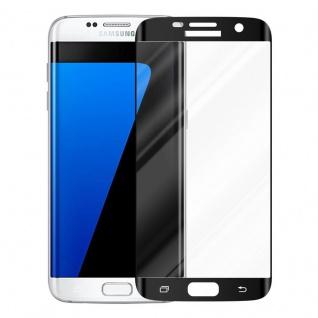 Cadorabo Vollbild Panzer Folie für Samsung Galaxy S7 EDGE - Schutzfolie in TRANSPARENT mit SCHWARZ - Gehärtetes (Tempered) Display-Schutzglas in 9H Härte mit 3D Touch Kompatibilität - Vorschau 2