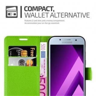 Cadorabo Hülle für Samsung Galaxy A5 2017 in MINZ GRÜN - Handyhülle mit Magnetverschluss, Standfunktion und Kartenfach - Case Cover Schutzhülle Etui Tasche Book Klapp Style - Vorschau 3