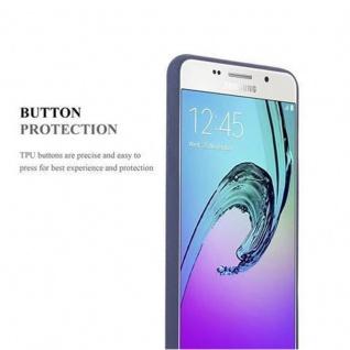 Cadorabo Hülle für Samsung Galaxy A5 2016 in FROST DUNKEL BLAU - Handyhülle aus flexiblem TPU Silikon - Silikonhülle Schutzhülle Ultra Slim Soft Back Cover Case Bumper - Vorschau 3