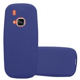 Cadorabo Hülle für Nokia 3310 in FROST DUNKEL BLAU - Handyhülle aus flexiblem TPU Silikon - Silikonhülle Schutzhülle Ultra Slim Soft Back Cover Case Bumper