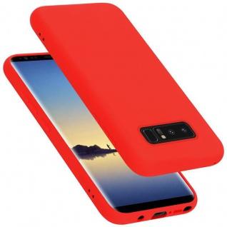 Cadorabo Hülle für Samsung Galaxy NOTE 8 in LIQUID ROT Handyhülle aus flexiblem TPU Silikon Silikonhülle Schutzhülle Ultra Slim Soft Back Cover Case Bumper