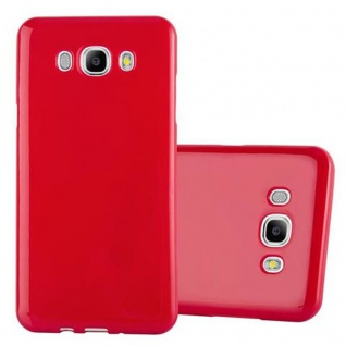 Cadorabo Hülle für Samsung Galaxy J7 2015 in JELLY ROT - Handyhülle aus flexiblem TPU Silikon - Silikonhülle Schutzhülle Ultra Slim Soft Back Cover Case Bumper