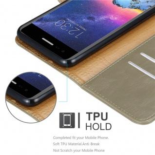 Cadorabo Hülle für LG K8 2017 in CAPPUCCINO BRAUN ? Handyhülle mit Magnetverschluss, Standfunktion und Kartenfach ? Case Cover Schutzhülle Etui Tasche Book Klapp Style - Vorschau 3