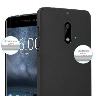 Cadorabo Hülle für Nokia 6 2017 in FROSTY SCHWARZ - Hardcase Handyhülle aus Plastik gegen Kratzer und Stöße - Schutzhülle Bumper Ultra Slim Back Case Hard Cover - Vorschau 3
