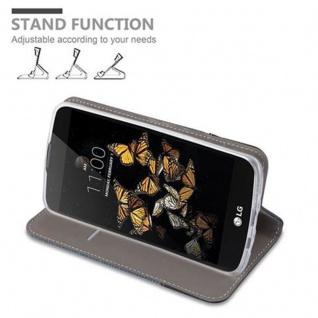 Cadorabo Hülle für LG K8 2016 in DUNKEL BLAU SCHWARZ - Handyhülle mit Magnetverschluss, Standfunktion und Kartenfach - Case Cover Schutzhülle Etui Tasche Book Klapp Style - Vorschau 5