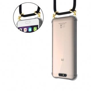 Cadorabo Handy Kette für ZTE Blade V8 in SCHWARZ - Silikon Necklace Umhänge Hülle mit Gold Ringen, Kordel Band Schnur und abnehmbarem Etui ? Schutzhülle - Vorschau 5