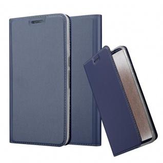 Cadorabo Hülle für Huawei NEXUS 6P in CLASSY DUNKEL BLAU - Handyhülle mit Magnetverschluss, Standfunktion und Kartenfach - Case Cover Schutzhülle Etui Tasche Book Klapp Style