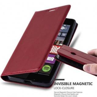 Cadorabo Hülle für Nokia Lumia 640 in APFEL ROT Handyhülle mit Magnetverschluss, Standfunktion und Kartenfach Case Cover Schutzhülle Etui Tasche Book Klapp Style