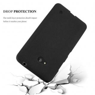 Cadorabo Hülle für Nokia Lumia 640 in FROST SCHWARZ - Handyhülle aus flexiblem TPU Silikon - Silikonhülle Schutzhülle Ultra Slim Soft Back Cover Case Bumper - Vorschau 5