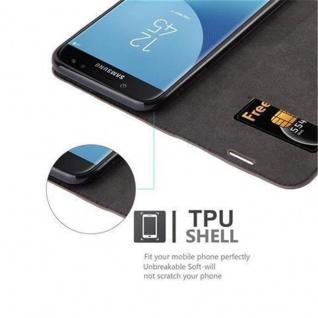 Cadorabo Hülle für Samsung Galaxy J7 2017 in KAFFEE BRAUN - Handyhülle mit Magnetverschluss, Standfunktion und Kartenfach - Case Cover Schutzhülle Etui Tasche Book Klapp Style - Vorschau 3
