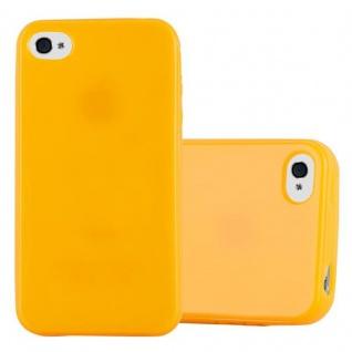 Cadorabo Hülle für Apple iPhone 4 / iPhone 4S in JELLY GELB - Handyhülle aus flexiblem TPU Silikon - Silikonhülle Schutzhülle Ultra Slim Soft Back Cover Case Bumper