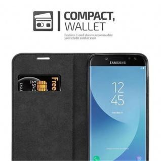 Cadorabo Hülle für Samsung Galaxy J7 2017 in NACHT SCHWARZ - Handyhülle mit Magnetverschluss, Standfunktion und Kartenfach - Case Cover Schutzhülle Etui Tasche Book Klapp Style - Vorschau 4