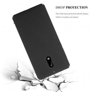 Cadorabo Hülle für Nokia 6 2017 in FROSTY SCHWARZ - Hardcase Handyhülle aus Plastik gegen Kratzer und Stöße - Schutzhülle Bumper Ultra Slim Back Case Hard Cover - Vorschau 4