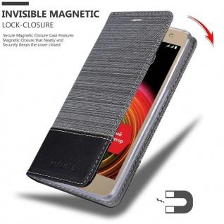 Cadorabo Hülle für LG X POWER 2 in GRAU SCHWARZ - Handyhülle mit Magnetverschluss, Standfunktion und Kartenfach - Case Cover Schutzhülle Etui Tasche Book Klapp Style - Vorschau 3