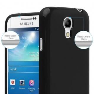 Cadorabo Hülle für Samsung Galaxy S4 MINI in JELLY SCHWARZ ? Handyhülle aus flexiblem TPU Silikon ? Silikonhülle Schutzhülle Ultra Slim Soft Back Cover Case Bumper - Vorschau 3