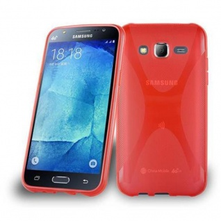 Cadorabo Hülle für Samsung Galaxy J5 2015 in INFERNO ROT ? Handyhülle aus flexiblem TPU Silikon ? Silikonhülle Schutzhülle Ultra Slim Soft Back Cover Case Bumper