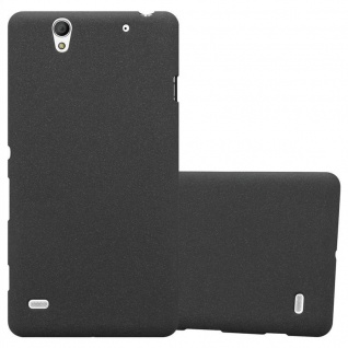 Cadorabo Hülle für Sony Xperia C4 in FROST SCHWARZ - Handyhülle aus flexiblem TPU Silikon - Silikonhülle Schutzhülle Ultra Slim Soft Back Cover Case Bumper