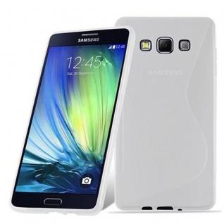 Cadorabo Hülle für Samsung Galaxy A7 2015 in HALB TRANSPARENT ? Handyhülle aus flexiblem TPU Silikon ? Silikonhülle Schutzhülle Ultra Slim Soft Back Cover Case Bumper