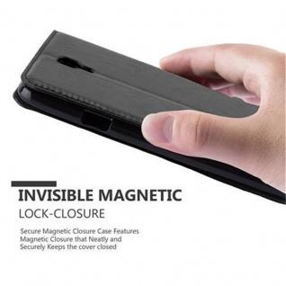 Cadorabo Hülle für Samsung Galaxy NOTE 3 NEO in NACHT SCHWARZ - Handyhülle mit Magnetverschluss, Standfunktion und Kartenfach - Case Cover Schutzhülle Etui Tasche Book Klapp Style - Vorschau 5