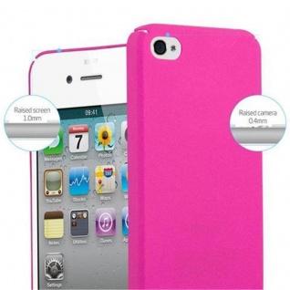 Cadorabo Hülle für Apple iPhone 4 / iPhone 4S in FROSTY PINK - Hardcase Handyhülle aus Plastik gegen Kratzer und Stöße - Schutzhülle Bumper Ultra Slim Back Case Hard Cover - Vorschau 5