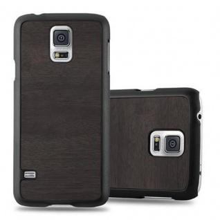 Cadorabo Hülle für Samsung Galaxy S5 / S5 NEO in WOODY SCHWARZ ? Hardcase Handyhülle aus Plastik gegen Kratzer und Stöße ? Schutzhülle Bumper Ultra Slim Back Case Hard Cover